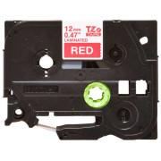 Fita Laminada Compatível Brother TZE-435 - 12mm x 8 metros Branco/Vermelho