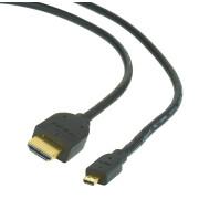 Cabo HDMI p/ Micro HDMI 1.4 Gold 1.8 metros Gembird