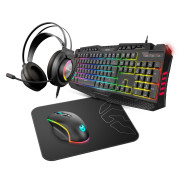 Teclado + Rato + Headset + Tapete Krom Kritic RGB Rainbow Gaming Kit