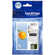 Conjunto 4 Tinteiros Brother Originais LC3211 (LC3211VAL)