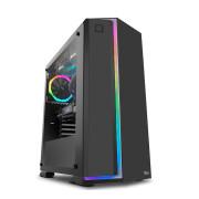 Caixa ATX Nox Infinity Neon RGB c/ Janela Preta