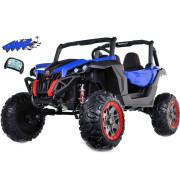 Carro Elétrico Buggy UTV-MX Bateria 24v 100W c/ Comando e Bluetooth Azul