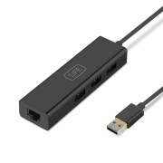 Adaptador 3 Portas USB 3.0 e RJ45 1Life usb:hub 3