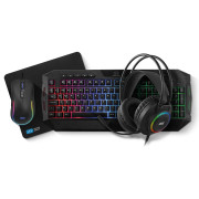 Teclado + Rato + Headset + Tapete 1Life All 4 One Gaming