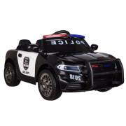 Carro Elétrico Polícia Bateria 12v c/ Comando Preto