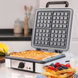 Máquina Waffles Cecotec Fun Gofrestone 4Inox