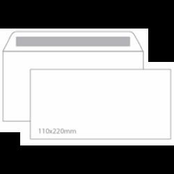 Envelope DL sem Janela 110x220 Silicone 90gr - Caixa 500 Unidades