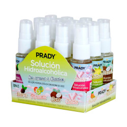 Prady Spray hidroalcoólica Higienizante 30ml MultiAromas - Pack 12 unidades