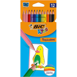 Lápis de Cor 18cm BIC Kids Tropicolors 12 unidades
