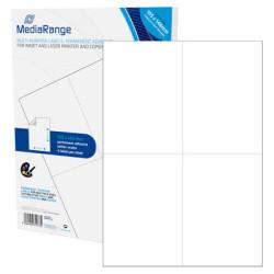Etiquetas Adesivas Permanentes Mediarange - 105 x 148mm (200 un)