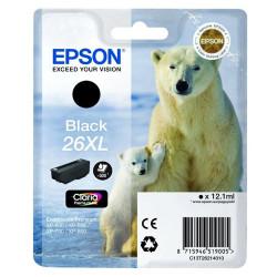 Tinteiro Epson 26 XL Preto Original Série Urso (C13T26214010)