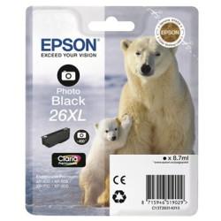 Tinteiro Epson 26 XL Preto Fotográfico Original Série Urso (C13T26314010)