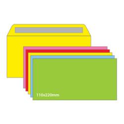 Envelope DL sem Janela 110x220 Cores Sortidas - Pack 25 Unidades