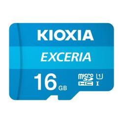 Cartão Memória Kioxia Exceria C10 UHS-I U1 microSDHC 16GB + Adaptador SD