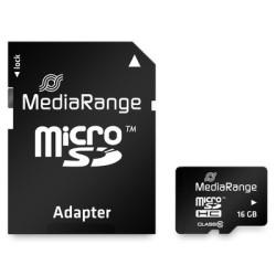 Cartão Mediarange Micro SD HC 16GB - Class 10 - 15mb/s