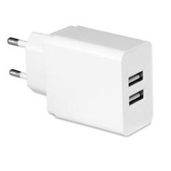 Carregador Duplo USB 3.1A Output Branco Mediarange