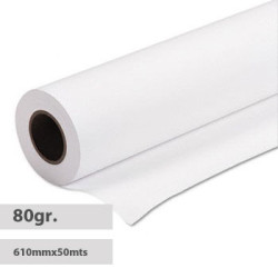 Rolo de Papel Plotter A1 Evolution 610mm x 50 metros - Pack 4 unidades