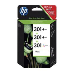 HP 301 Combo Pack 2x Preto + Tricolor Original (E5Y87EE)
