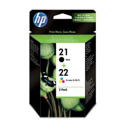 HP 21 + 22 Combo-Pack Preto / Tri-color Original (SD367AE)