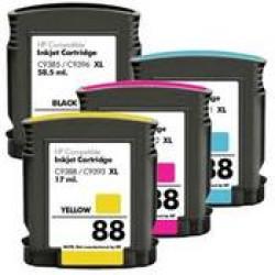 Pack 4 Tinteiros HP 88 Compatível   - ONBIT