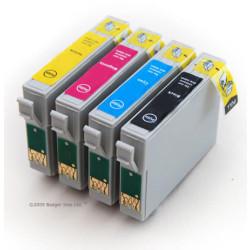 Conjunto 4 Tinteiros Compatíveis Epson ref. T1291/2/3/4 (T1295)   - ONBIT