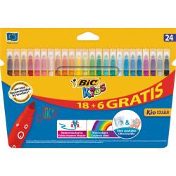 Marcadores Coloridos de Felcro BIC Kids 24 Cores