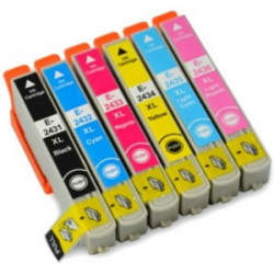 Conjunto 6 Tinteiros Epson 24 XL - ref. T2431/2/3/4/5/6   - ONBIT