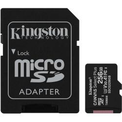 Cartão Memória Kingston Canvas Select Plus C10 A1 UHS-I microSDHC 256GB + Adaptador SD