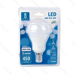 Lâmpada LED E14 6W 6400K Luz Fria A5 A60 Aigostar