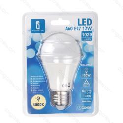 Lâmpada LED E27 12W 4000K Luz Natural A5 A60 Aigostar