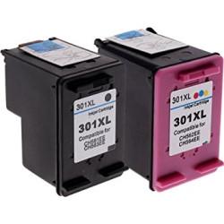 Conjunto 2 Tinteiros Compatíveis HP 301 XL   - ONBIT