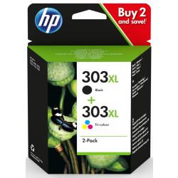 HP 303 XL Combo-Pack Preto / Tri-color Original 3YN10AE
