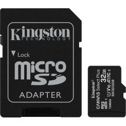 Cartão Memória Kingston Canvas Select Plus C10 A1 UHS-I microSDHC 32GB + Adaptador SD