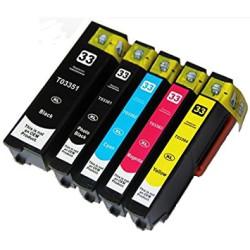 Conjunto 5 Tinteiros Epson 33 XL - ref. T3351/T3361/2/3/4   - ONBIT