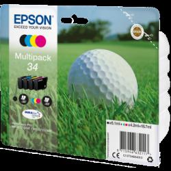 Conjunto 4 Tinteiros Epson 34 Originais Série Bola de Golfe (C13T34664010)