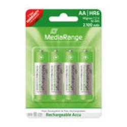 Pilhas Mediarange Recarregáveis AA|HR6 1.2V - Pack 4  MRBAT121 - ONBIT