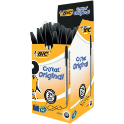 Esferográfica Ball Point BIC Cristal Preto - Pack 50