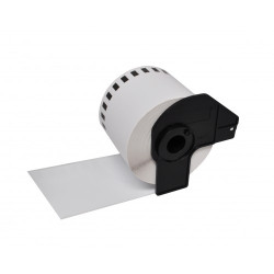 Etiquetas Compativeis Brother DKN55224 Branca - 54mm x 30.48mm Contínua Não Adesiva Papel térmico