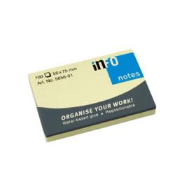 Bloco de Notas Adesivo 100 folhas Amarelo Info Notes 50x75 - Pack 12 unidades