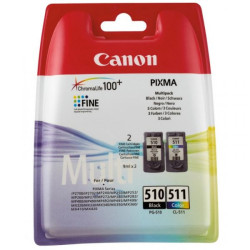 Conjunto 2 Tinteiros Canon PG-510 + CL-511 Original