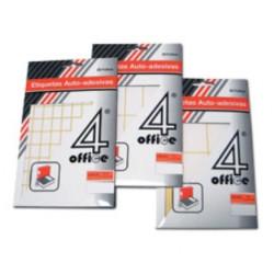 Etiquetas adesivas 4Office permanentes - 50X50   - ONBIT