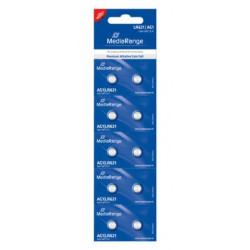 Pilhas Mediarange Alcalinas Coin Cell AG1 | LR621 - Pack 10  MRBAT110 - ONBIT