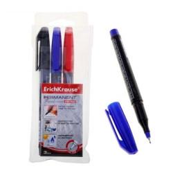 Marcador Tinta Permanente 1mm ErichKrause P-70 - Pack 3 cores  EK 37077 - ONBIT