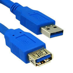 Cabo Extensão USB 3.0 - 1.8 metros Gembird Cablexpert  CCP-USB3-AMAF-6 - ONBIT
