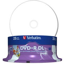 DVD+R Dual Layer 8.5GB Verbatim Imprimível 8X - Pack 25