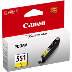 Tinteiro Canon CLI-551 Y Amarelo Original (6511B001)