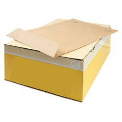Envelopes Kraft C4 (229X324mm) c/tira de silicone - Pack 250 unidades   - ONBIT
