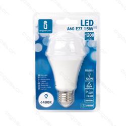 Lâmpada LED E27 15W 6400K Luz Fria A5 A60 Aigostar