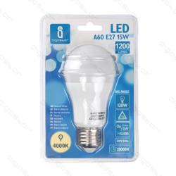 Lâmpada LED E27 15W 4000K Luz Natural A5 A60 Aigostar