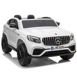 Carro Elétrico Mercedes AMG GLC63S Coupe 4x4 XXL12V Bateria c/ Comando Branco